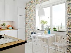 Transform your Kitchen with Wallpaper