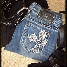 Miss Me Bootcut Jeans Great condition! Small for 28's. Miss Me Jeans Boot Cut