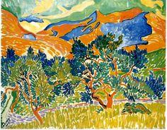 André Derain, montagnes de Collioure - 1905