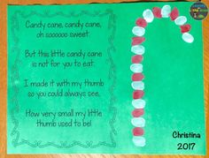 candy cane poem and thumbprint Christmas card for parents from students Christmas Gift Poem, Christmas Poems For Cards, Student Christmas Gifts, Christmas Gifts For Parents, Homemade Christmas Cards, Kids Christmas, Christmas Projects, Xmas Gifts, Classy Christmas