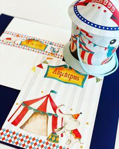 Προσκλητήριο βάπτισης τσίρκο και μουσικό κουτί τσίρκο μπομπονιέρα βάπτισης Playing Cards, Playing Card Games, Game Cards, Playing Card