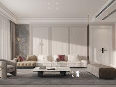 Dining Room Design, Interior Design Living Room, Living Room Decor, Neoclassical Interior Design, Classic Living Room, Classic Interior, Luxury Living, Modern Classic, House Design