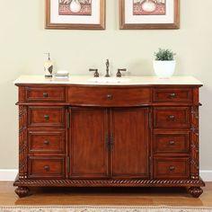 Silkroad Exclusive Victoria 60u201d Single Bathroom Vanity Set. $1271