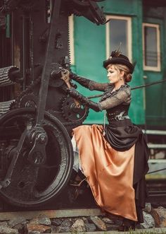 25 Epochal And Inspiring Steampunk Dresses For Women https://www.steampunkartifacts.com/collections/steampunk-wrist-watches
