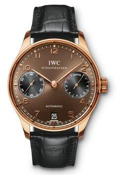 IWC Portugués 7 días de reserva de energía automático del reloj para hombre IW500124 de oro rosa