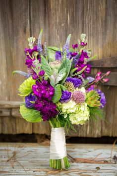 Violet Bridal Bouquet