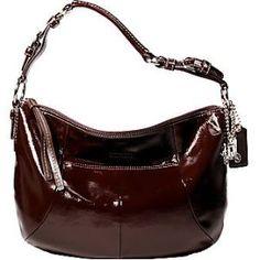 Coach Soho Patent Hobo Shoulder Bag 12686 Brown Arel Outlet Handbags