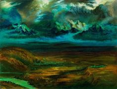 Otto Dix (German, Gloomy Landscape (Düstere Landschaft), 1940 Oil on canvas, 65 × cm Otto Dix, Stones And Crystals, Art Boards, Oil On Canvas, Art Drawings, German, Fine Art, Nature, Naturaleza