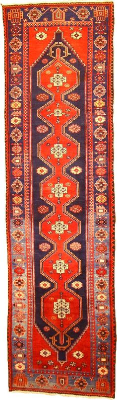 Navy Blue 3' 6 x 12' 6 Koliaei Persian Rug would be great in our upstairs hallway...