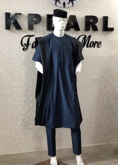Kpearl Couture Big Men Fashion, African Men Fashion, Womens Fashion, African Fashion Traditional, Agbada Styles, African Dresses Men, Savage, Men's Style, Boss