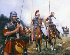 Cavalry and Legionaries (plus Auxiliary Hamian Archer) of the XIVth Legion
