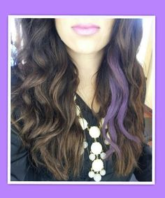 Long dark brown hair with purple peek a boo hair make up long dark brown hair with purple peek a boo hair make up style pinterest brown hair dark brown and purple pmusecretfo Image collections