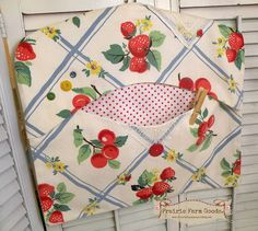 Clothes pin bag retro vintage farmhouse retro by PrairieFarmGoods2