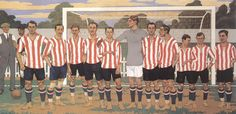 Bilbao, Athletic Club de Bilbao Association Football, Team Games, Athletic Clubs, Basque Country, Football Soccer, Rugby, Illustrators, Paintings, Retro