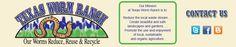 Texas Worm Ranch : Buy red wiggler in Dallas, TX Composting At Home, Worm Composting, Red Wigglers, Worm Castings, Hydroponics, Worms, Texas Ranch, Dallas Texas, Garland
