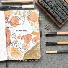 Bullet Journal School, Bullet Journal Cover Ideas, Bullet Journal Lettering Ideas, Bullet Journal Notebook, Journal Covers, Bullet Journals, Bullet Journal Inspiration Creative, Creative Ideas For Art, Bullet Journal Month Page