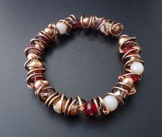 How to Coil and Wire Wrap an Easy Bangle - The Beading Gem's Journal. #Wire #Jewelry #Tutorials