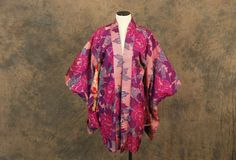 vintage 50s Kimono Haori Jacket  Purple and Orange by jessamity, $88.00