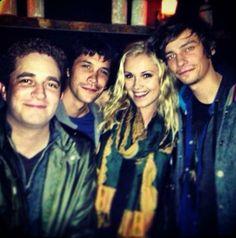 Devon Bostick, Eliza Taylor, Bob Morley || The 100 cast || Jasper Jordan, Clarke Griffin and Bellamy Blake