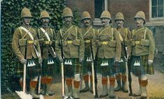 UK Scotland Military Cameron Highlanders Batt South Africa Kit c 1910