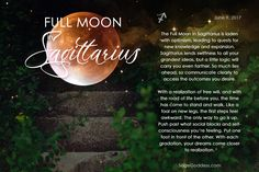 The Full Moon in Sagittarius is tomorrow   What effects have you been feeling from it?