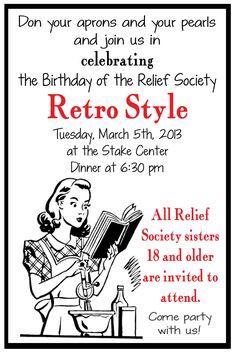 Relief Society Retro Birthday Party - Liz on Call