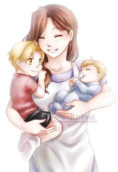 Beautiful Mother anime is Fullmetal alchemist. Manga Anime, Anime Art, Elric Brothers, 鋼の錬金術師 Fullmetal Alchemist, Alphonse Elric, Familia Anime, Edward Elric, Illustrations, Anime Love