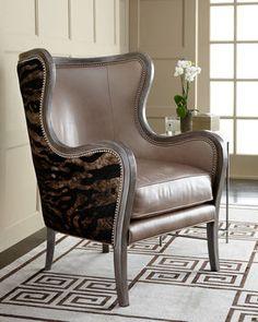 Massoud Furniture Nottinghill Hide Chair