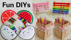 3 Creative DIYs:DIY Pencil Cases out of Disposable Plates+DIY Popsicle s...