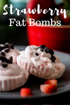 Easy & Delicious Strawberry  Fat Bombs