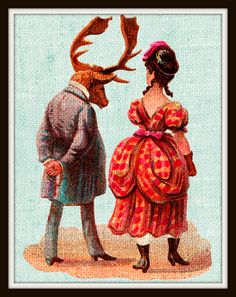 A personal favorite from my Etsy shop https://www.etsy.com/listing/265390620/elk-and-lady-art-digital-download-8-x-10