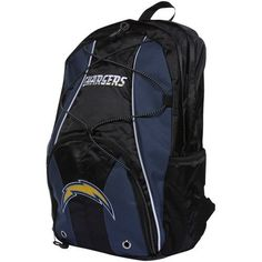 NFL San Diego Chargers Darth Backpack by Concept 1. $21.86. Felt applique main logo & wordmark embroidery logo. Large main compartment & side/front jersey mesh pockets. Contoured shoulder straps with team color panels. 600D nylon team color fabric. Functional exterior bungee cord. The Darth backpack offfers space and multiple compartments to fit all of your belongings.  Convenient for the gym, a weekend getaway or everyday use.