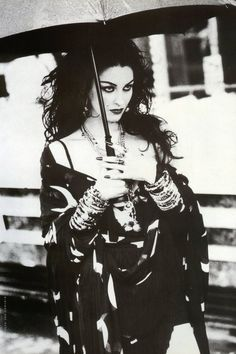"""English model Susie Bick - She was the cover model of The Damned 1985 """"Phantasmagoria"""" album"""