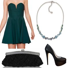 Our CAROLEE necklace matches this beautiful emerald green perfectly!