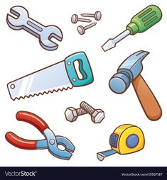 Illustration about Vector illustration of Tools set. Illustration of screwdriver, pliers, tools - 85830738 Festa Hot Wheels, Deco Stickers, Construction Birthday, Star Wars Birthday, Fathers Day Crafts, Busy Book, Cartoon Pics, Diy Cards, Paper Dolls