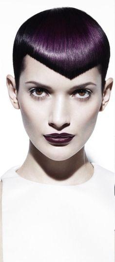 Short Hair Cuts For Women, Short Cuts, Short Hair Styles, Wild Hairstyles, Cool Hairstyles, Dark Purple Hair Color, V Bangs, Super Short Hair, Female Hair