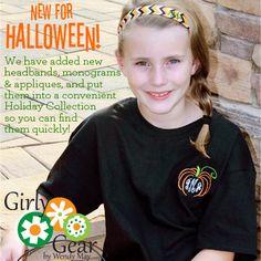 Pumpkin monogram for Halloween - so cute! www.girlygearshop.com
