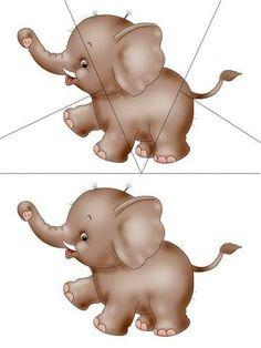 Thema dierentuin : puzzel