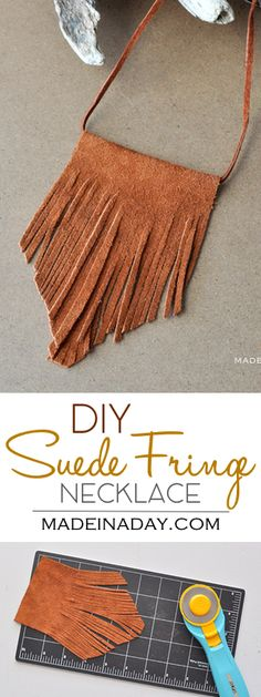 DIY Bohemian Suede Fringe Necklace, I whipped up this simple suede necklace this weekend. Let me show you how to make your own! leather jewelry, bohemian necklace, boho necklace,