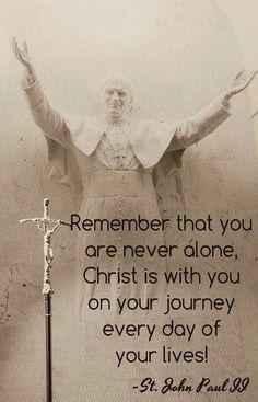 St. John Paul II lonely