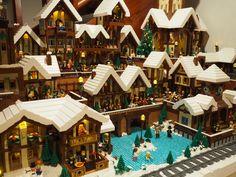 Lego Feriendorf 2017 - New Ideas Lego Christmas Village, Lego Winter Village, Christmas Villages, Sharpie Paint Markers, Best Lego Sets, Holiday Train, Lego Pictures, Legos, Lego Lego