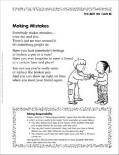 Making Mistakes (Taking Responsibility)