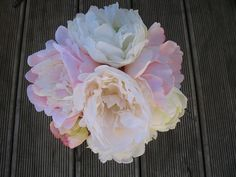 Items similar to SILK Cream and blush pink Peony bouquet with pearl detail. on Etsy Peonies Bouquet, Pink Peonies, Peony, Bouquets, Flax Flowers, Blush Pink, Wedding Flowers, Silk, Cream