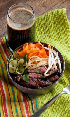 Hoisin Grilled Flank Steak Noodle Bowl