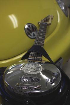 This is my hubcap guitar.