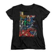 Justice League - Lettered League Women's T-Shirt