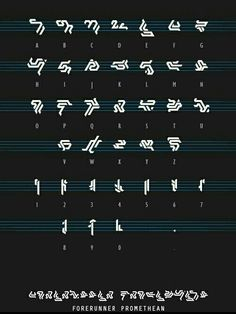 Forerunner language Glyphs Symbols, Alphabet Symbols, Calligraphy Alphabet, Halo Drawings, Halo Tattoo, Halo Spartan, Phone Wallpaper For Men, Halo Game, Halo Reach