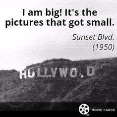 Will you be watching the #Oscars? #sunsetboulevard #hollywood #movies http://moviecards.us/movies/lines/sunset-blvd/i-am-big-its-the-pictures-that-got-small/90