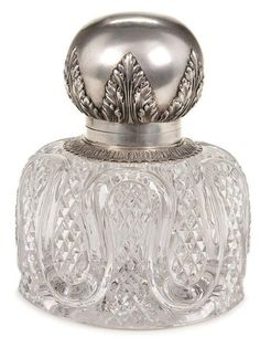 253: RUSSIAN FABERGE SILVER & CRYSTAL INKWELL - Oct 26, 2010 | Jackson's Auction in IA