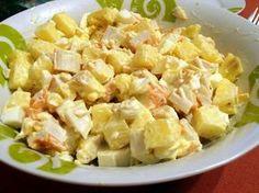 Ensalada de cangrejo y piña Healthy Picnic, Healthy Salads, Healthy Recipes, Good Food, Yummy Food, Tasty, Love Eat, Chicken Salad Recipes, Salad Bar